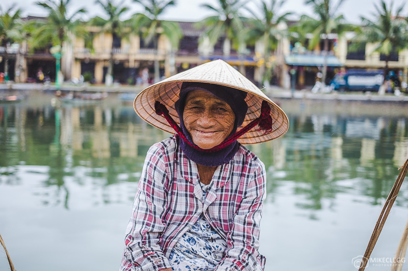 Vietnamese lady by the river in Hoi An
