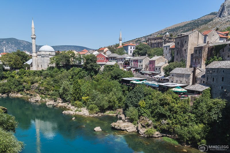 Views from Stari Most in Mostar - Day