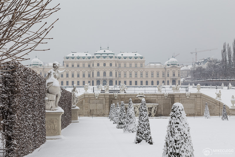 Winter scenes at Belvedere, Vienna