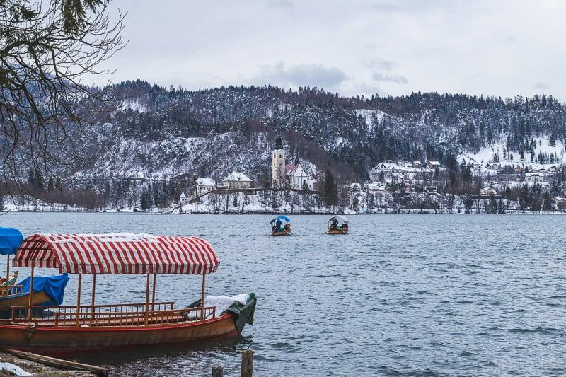 Pletna boat tours in Bled