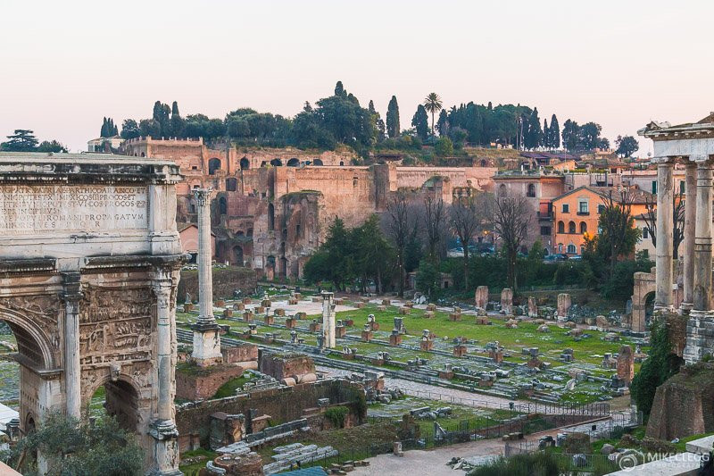 Roman Forum during the day.- Rome