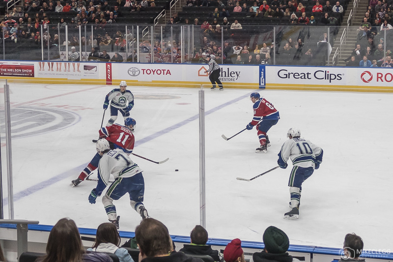 A hockey game in Canada