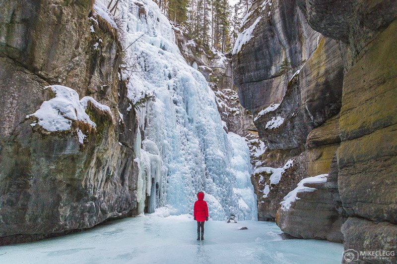 Frozen Waterfalls at Maligne Canyon, Canada