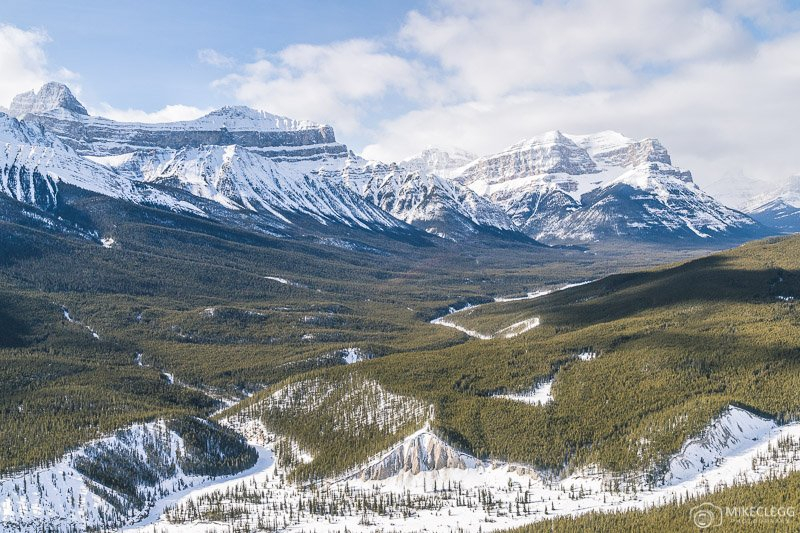 Helicopter views of the Rocky Mountains in Canada