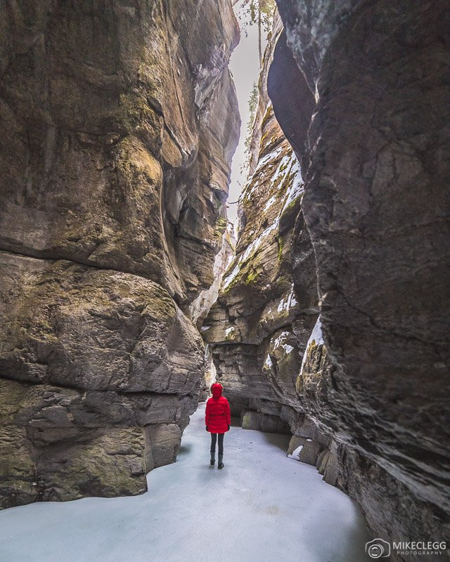 Ice Walks at Maligne Canyon in the winter