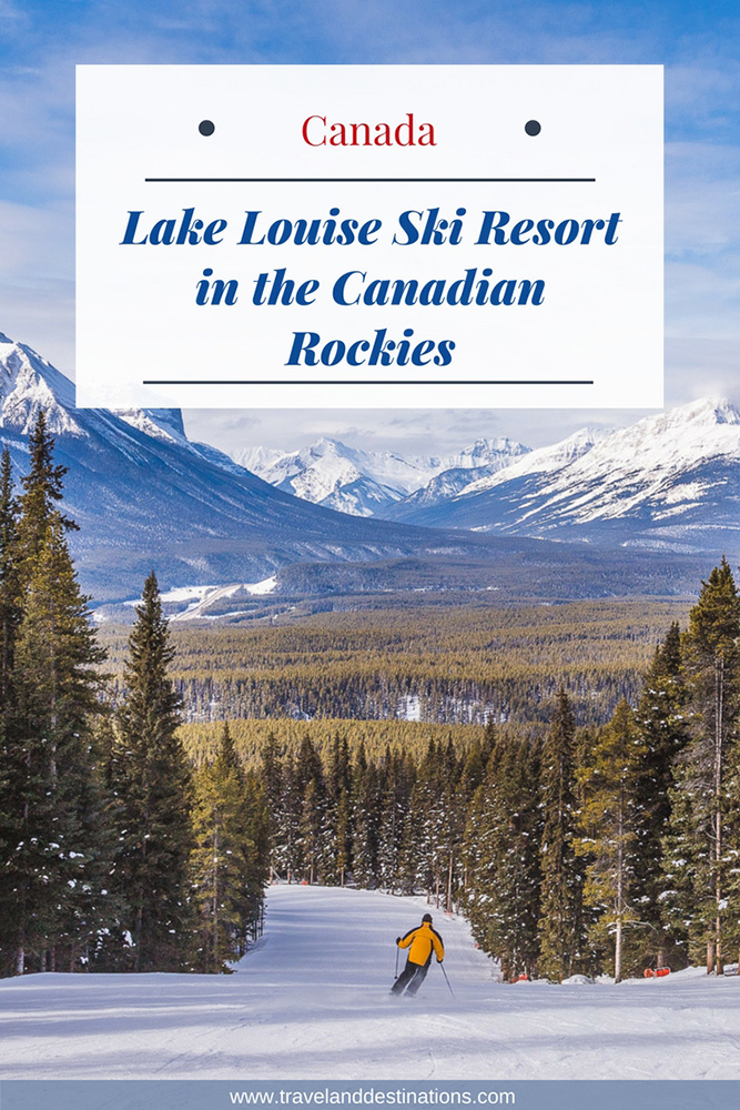 Lake Louise Ski Resort in the Canadian Rockies