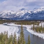 Landscapes in Jasper National Park, Alberta