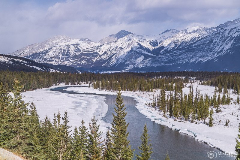 Landscapes in Jasper National Park, Alberta