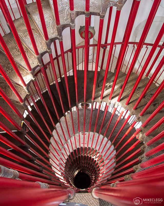 Ljubljana Castle Red Spiral Staircase