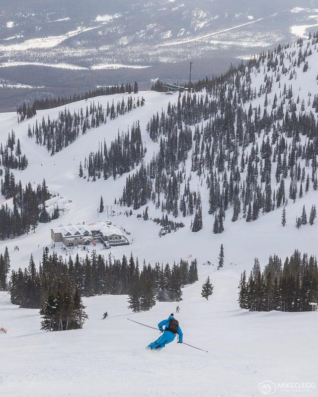 Marmot Basin Ski Resort in the winter