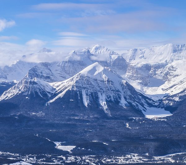 Mountains and glaciers in the Canadian Rocky Mountains