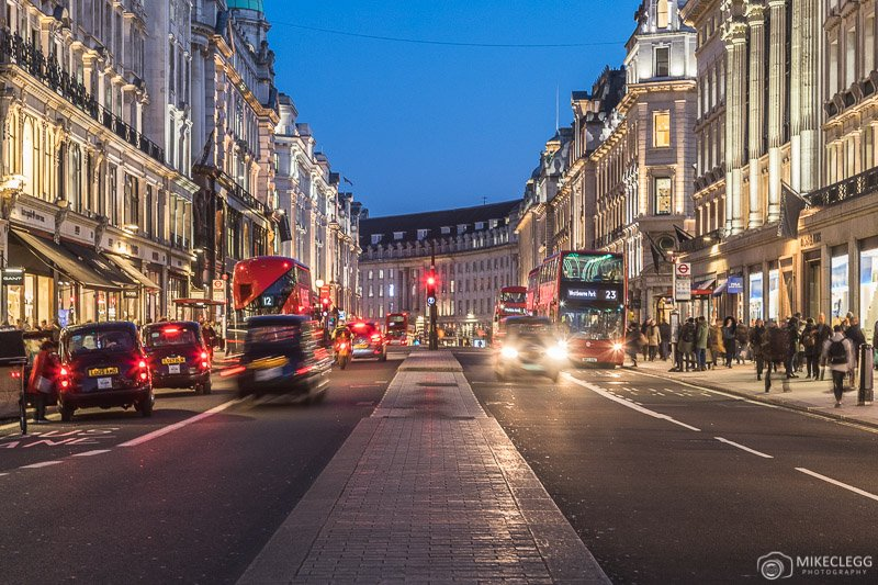Regent Street, London at night