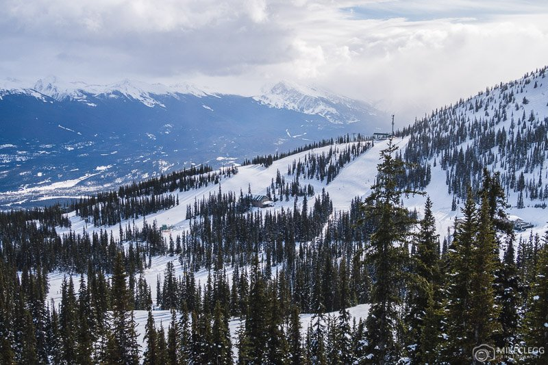 Scenic views at Marmot Basin Ski Resort