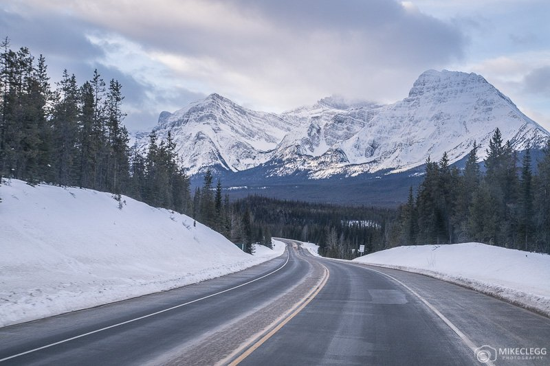 Snowy landscapes along the Icefields Parkway, Alberta