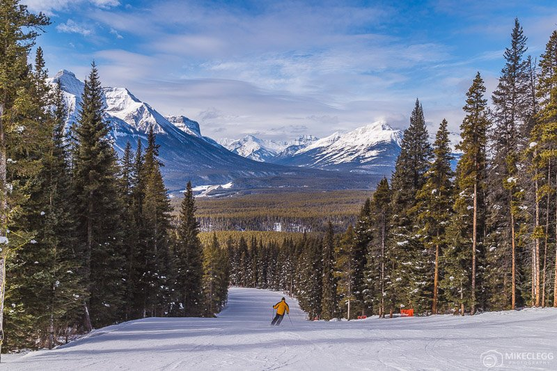 Tree runs at Lake Louise Ski Resort, Canada
