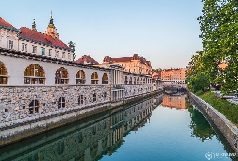 View from Butchers' Bridge Ljubljana