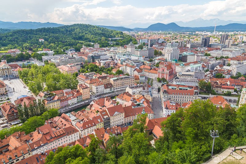 Views of the city from Ljubljana Castle