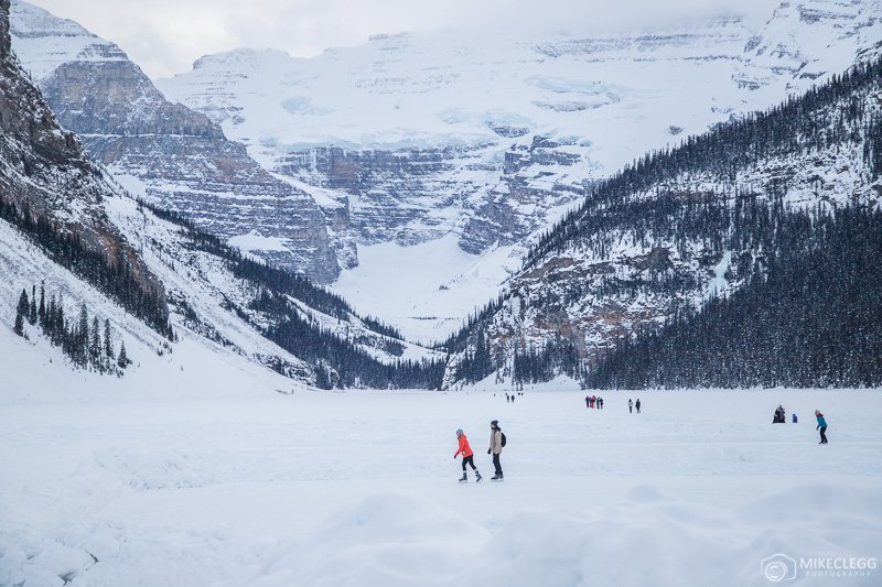 Winter Skating at Lake Louise
