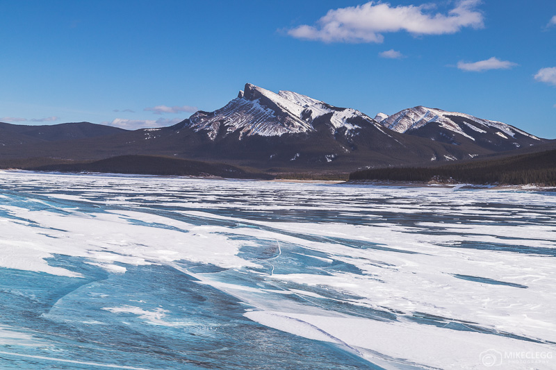 Winter landscapes at Abraham Lake, Canada