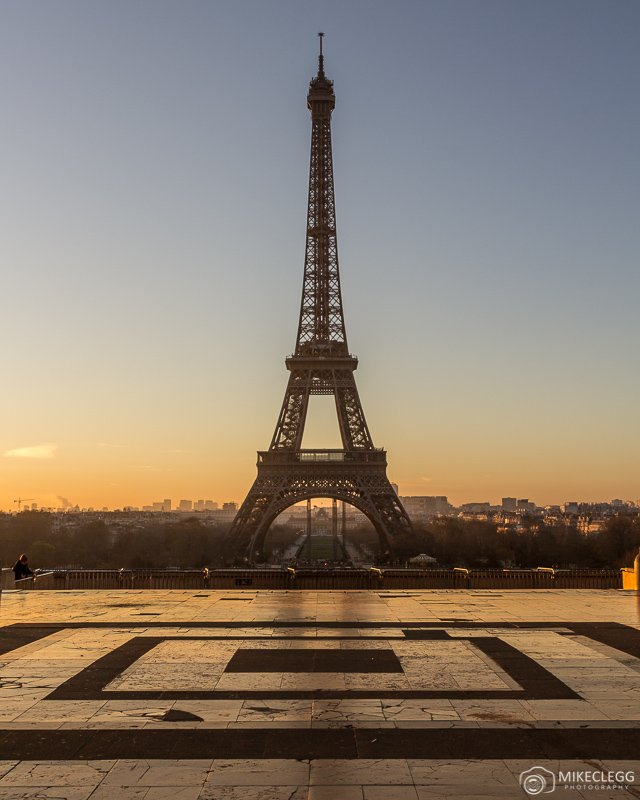 Eiffel Tower from Trocadéro at sunrise