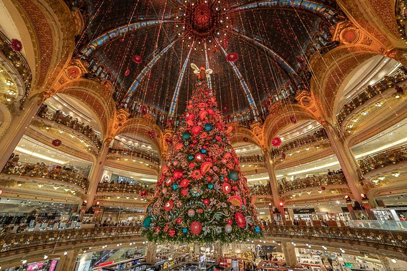 Galeries Lafayette at Christmas time