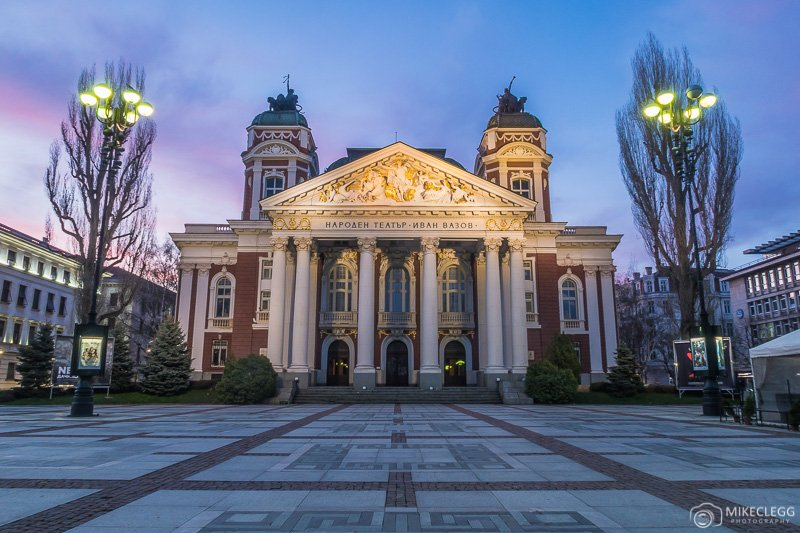 Ivan Vazov National Theatre at sunrise