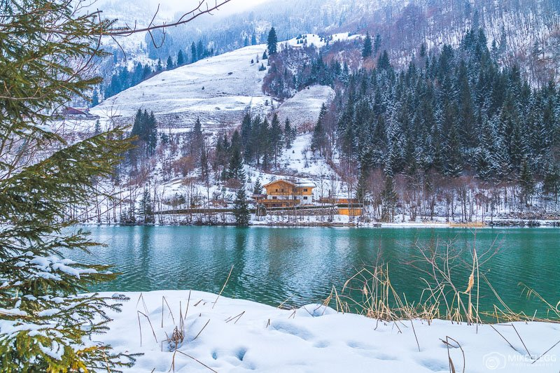 Lake Klammsee in the winter