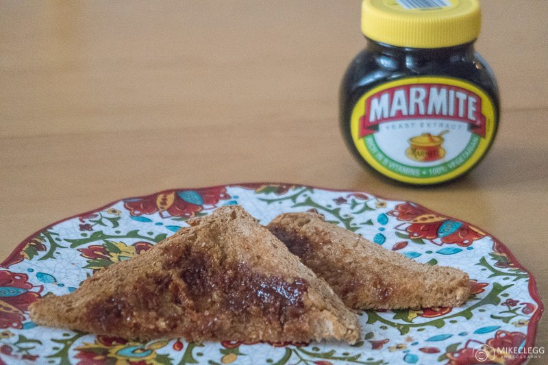 Marmite jar and toast