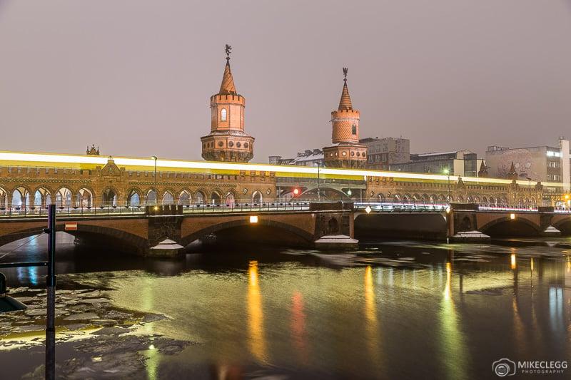 Oberbaumbrücke at night in Berlin