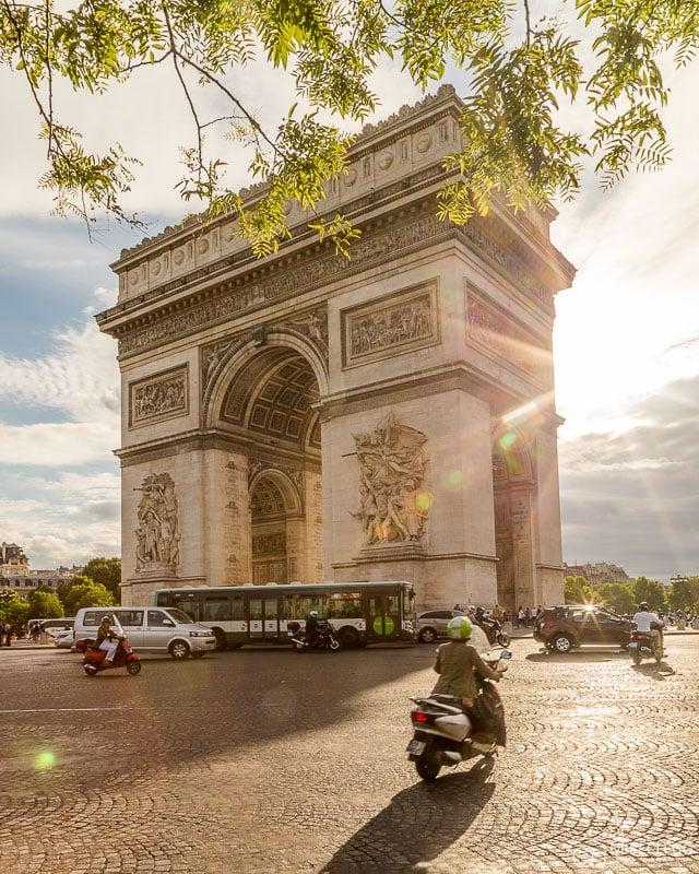 Place Charles de Gaulle and Arc de Triomphe