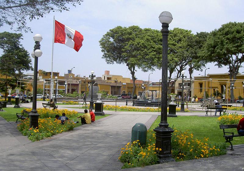 Plaza Principal de Pueblo Libre in Lima, Peru