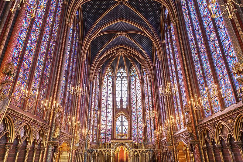 Sainte-Chapelle Interior - CC0 (Pixabay)