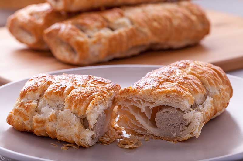Sausage Roll on a Plate