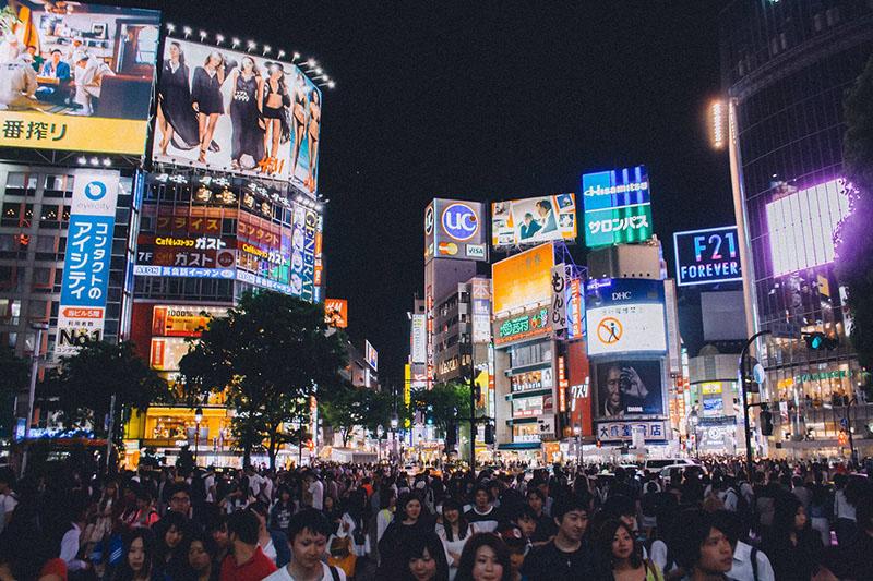 Shibuya Crossing in Tokyo - image via Pixabay