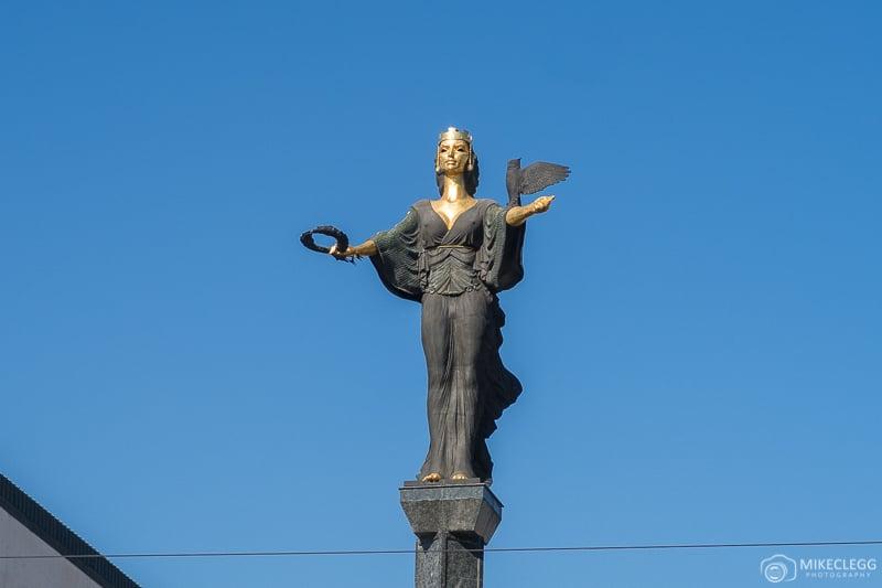 Statue of Sveta Sofia during the day