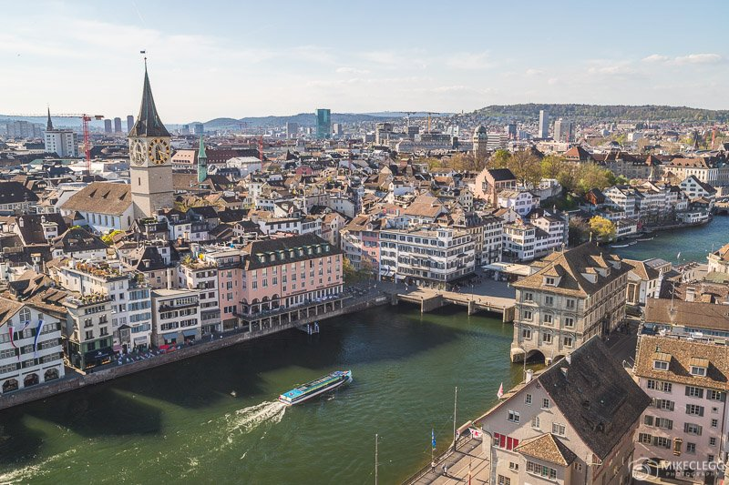 Views from Grossmünster, Zurich