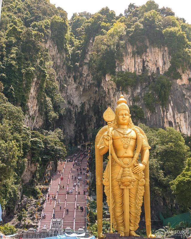 Batu Caves exterior and Lord Murugan Hindu Statue