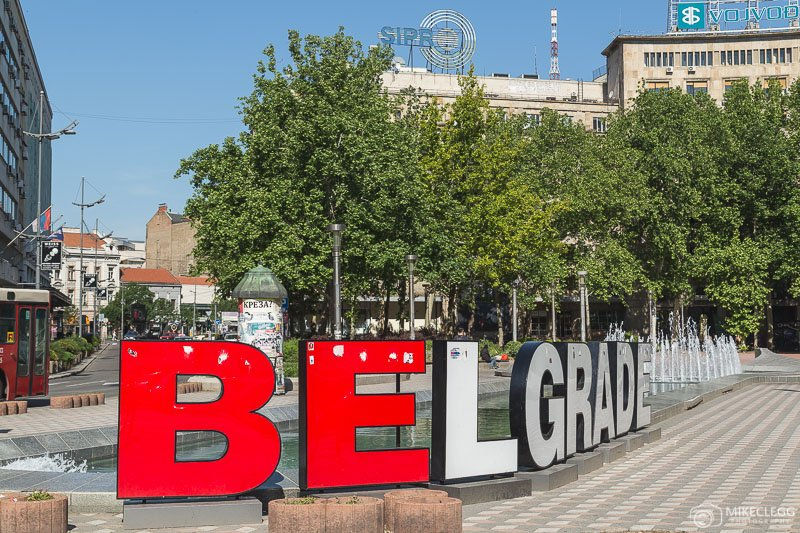 Belgrade Sign at Nikola Pašić Square