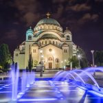 Church of Saint Sava in Belgrade at night