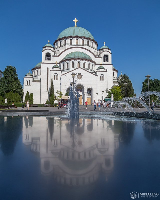Church of Saint Sava in Belgrade during the day