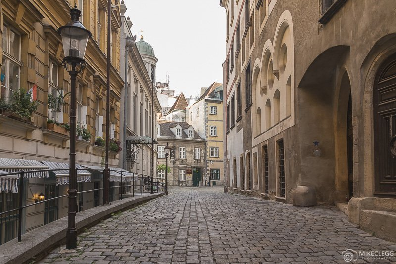 Cobbled streets in Vienna Innere Stadt