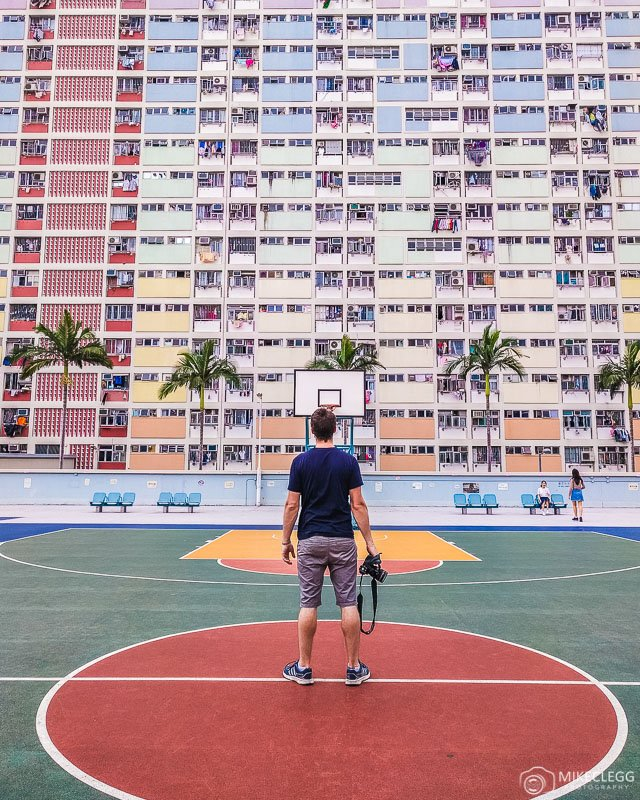 Colourful facades at Choi Hung Estate Hong Kong