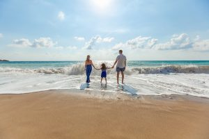 Families and the beach