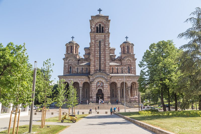 Front of St. Mark's Church, Belgrade