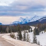 Icefields Parkway in Canada during the winter