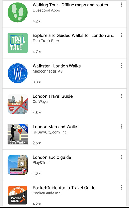 London Walking Tour App Screenshot