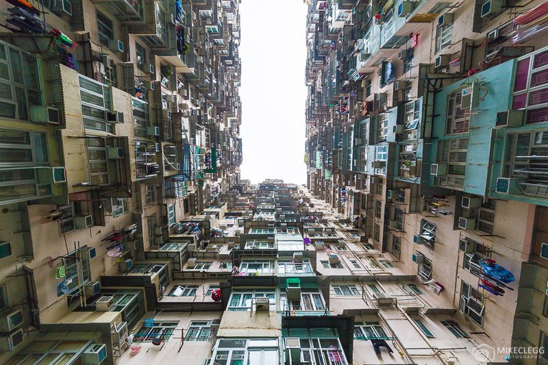 Yick Fat building in Hong Kong during the day