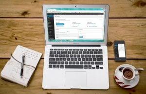 Laptop and wordpress blogging - CC0 (Pixabay)