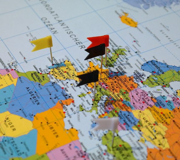 Pins on a map for a multi destination trip - CC0 (Pixabay)