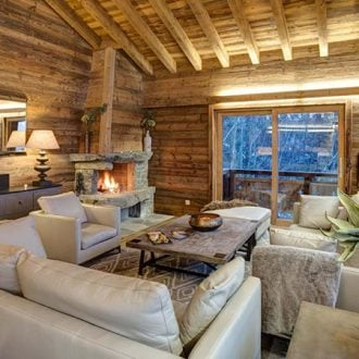 Beautiful lounges in catered Chalets - Chalet Altair in Nendaz Switzerland ©Skiworld~